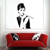 Adesivi murali di Audrey Hepburn