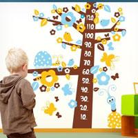 """Adesivo murale per bambini """"AlberoFiorito-metro"""""""