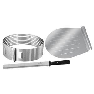 Set 3 utensili per il taglio di torte