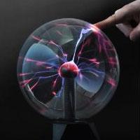 Sfera lampada plasma effetto fulmini vintage retro