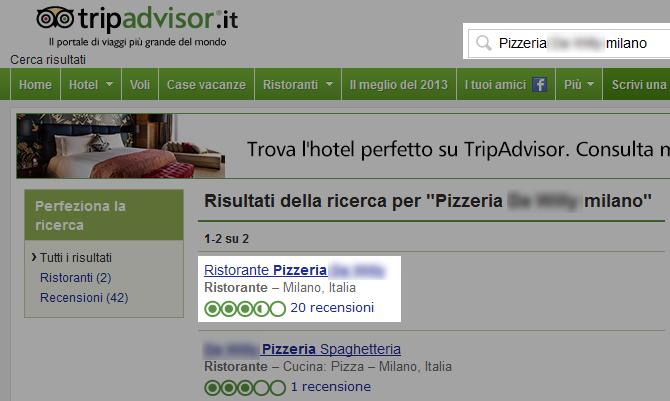ricerca ristorante tripadvisor