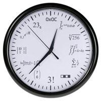 Orologio da parete con formule matematiche