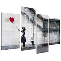 Quadro su tela a pannelli - Banksy