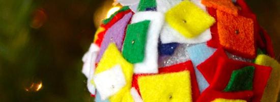 Palline di Natale in tessuto a quadretti