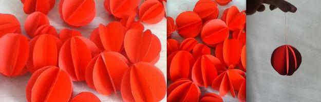 palline di natale - carta rosse