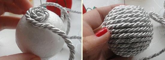 Palline di natale fatte a mano diy 20 tutorial - Decorazioni natalizie fatte a mano per bambini ...
