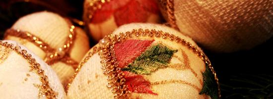 palline di Natale in tessuto