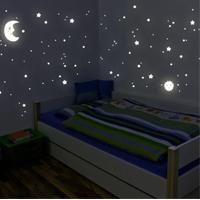 Adesivi fluorescenti sole, luna stelle