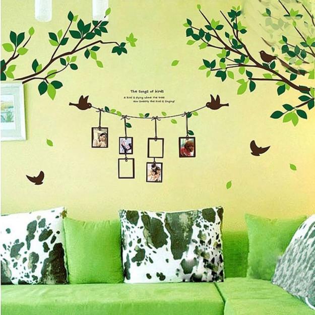 Adesivo albero e uccellini portafoto
