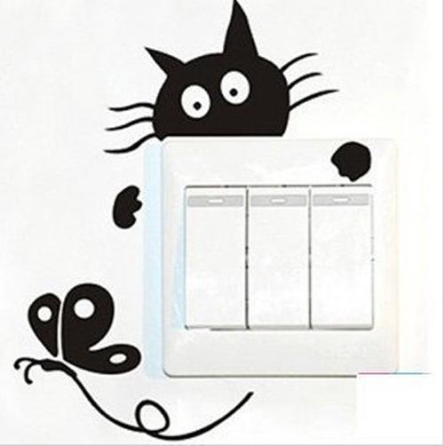 Adesivo gattino per interruttore