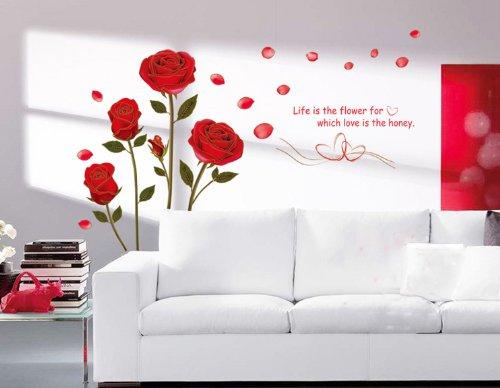 Adesivo Rosa rossa