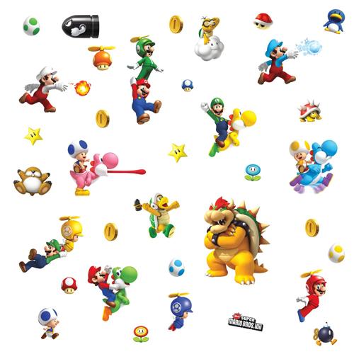 Adesivo Super Mario Bros - Nintendo