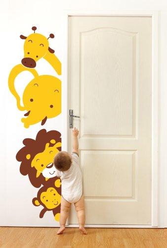 Adesivo murale animali affacciati