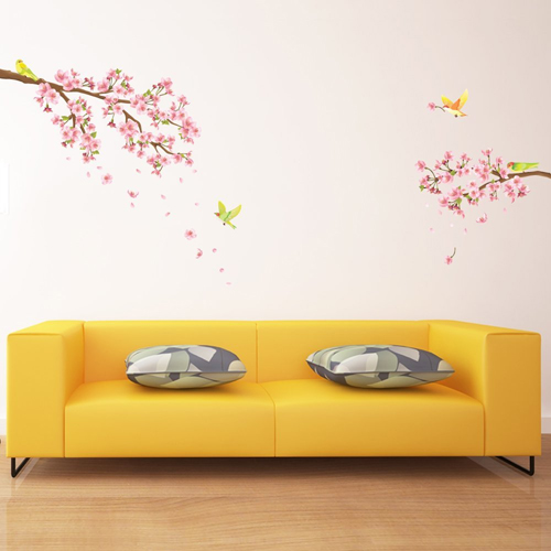 Adesivo murale fiori di ciliegio rosa