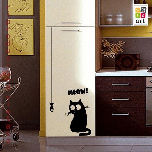 Adesivo murale gatto fortunato