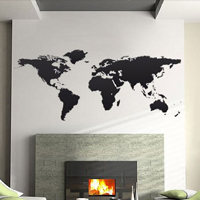 Adesivo murale planisfero