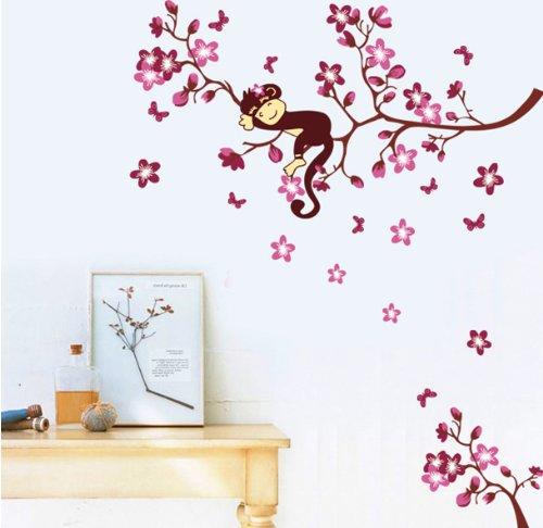 Adesivo scimmia su ramo