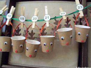 Calendario avvento coi bicchierini del caffè