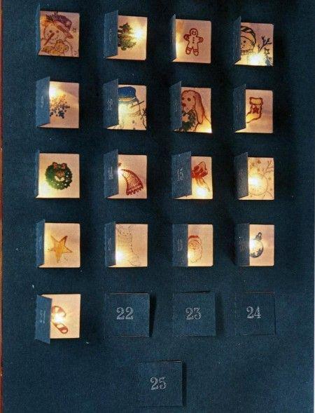 Calendario avvento illuminato
