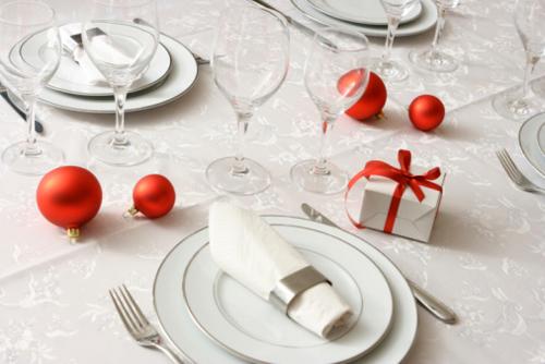 Addobbo tavola natalizia 1