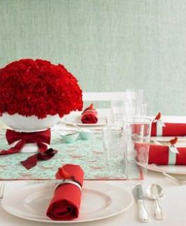 Addobbo tavola natalizia