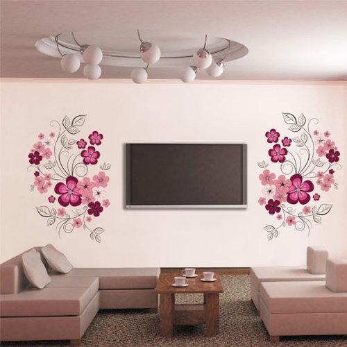 adesivo murale Floreale Fiori Rosa