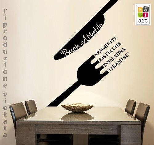 50 adesivi murali per la decorazione delle pareti di casa for Adesivi muro cucina