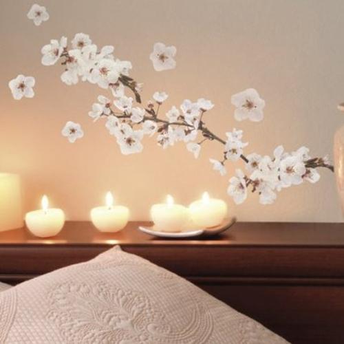 Adesivo murale fiori ciliegio - Fiori in camera da letto ...