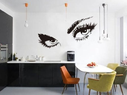 adesivo murale occhi Audrey Hepburn