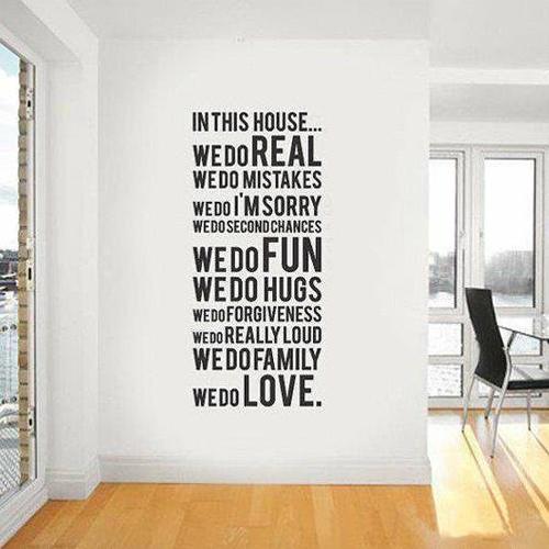 adesivo murale parole famiglia