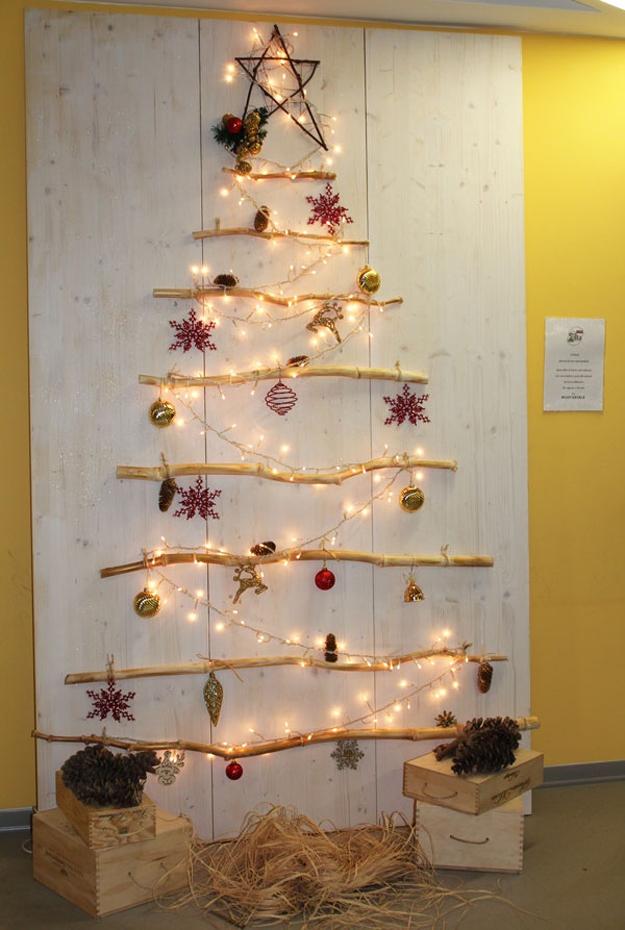 Addobbi natalizi e decorazioni natalizie fai da te 75 idee - Decorazioni muro ...