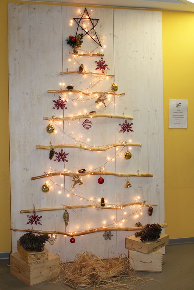 Addobbi natalizi e decorazioni natalizie fai da te 75 idee for Case di tronchi freschi