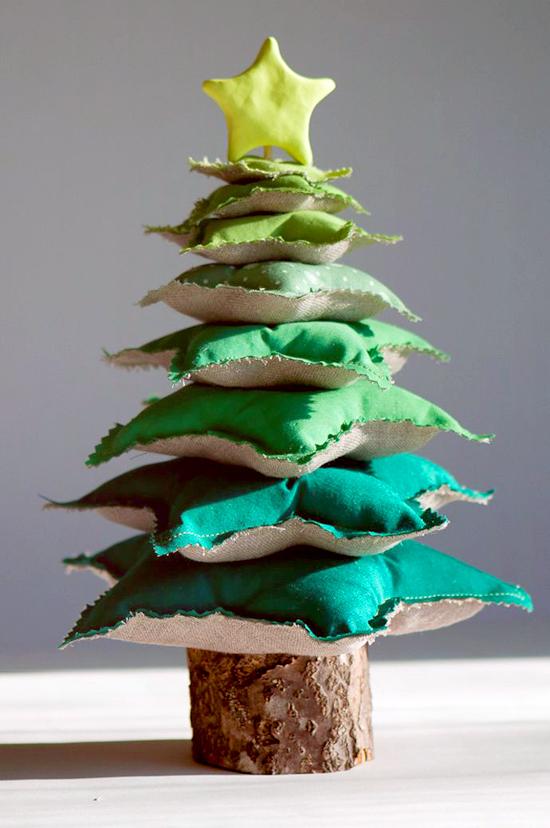Albero di Natale con cuscini