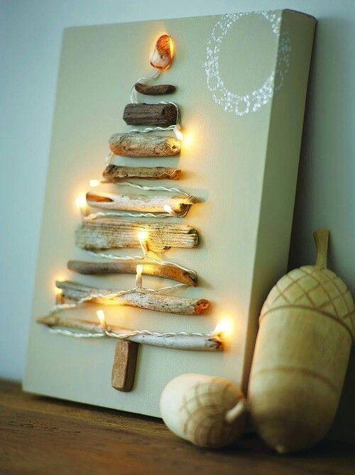 Albero di Natale con legnetti