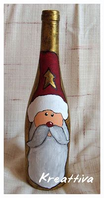 Bottiglia Babbo Natale