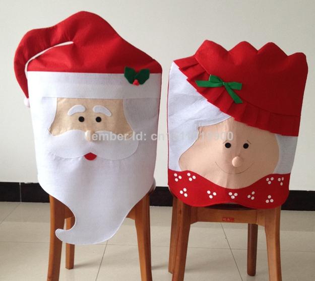 Copri sedie Babbo Natale e la moglie