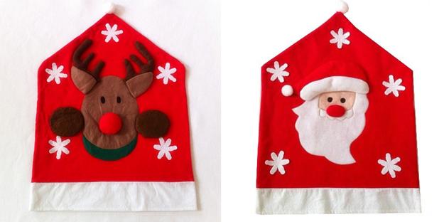 Copri sedie renna e Babbo Natale