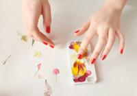 Cover smartphone con fiori veri