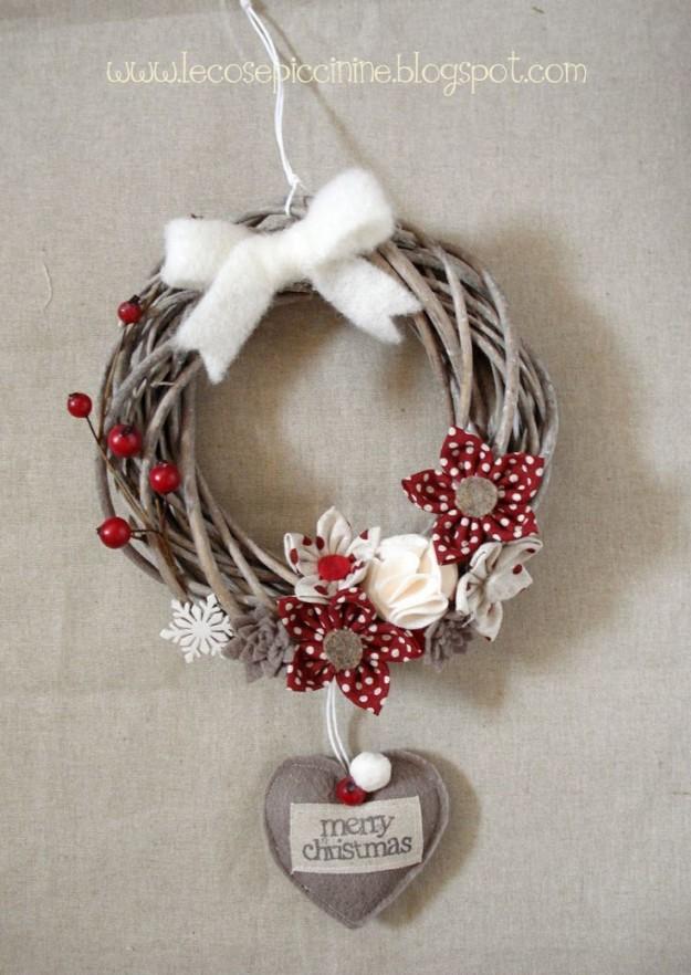 Addobbi natalizi e decorazioni natalizie fai da te 75 idee - Decorazioni ghirlande natalizie ...