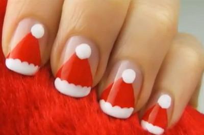 Unghie - nail art con Babbo Natale