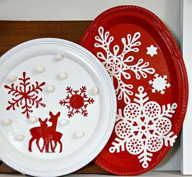 Addobbi natalizi e decorazioni natalizie fai da te 75 idee - Bicchieri decorati per natale ...