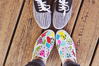 sneakers colorate fai da te
