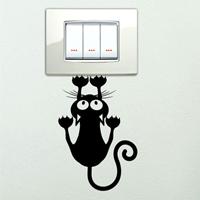 sticker murale gatto appeso interruttore