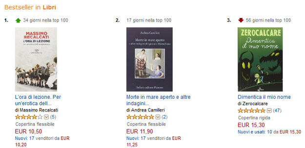 bestseller libri amazon