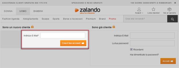 best service 6f792 ec310 Come registrarsi su Zalando, guida passo passo
