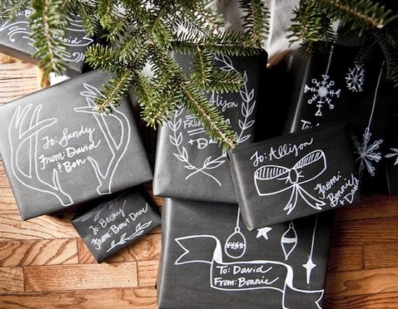 Pacchetti regalo stile Lavagna