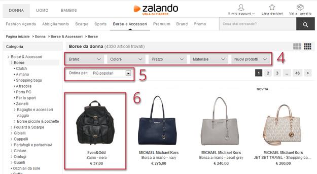 Come acquistare su Zalando 493af285d43