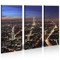 Parigi 3 Quadri moderni su tela