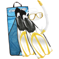 Set da Snorkeling, maschera, pinne e boccaglio