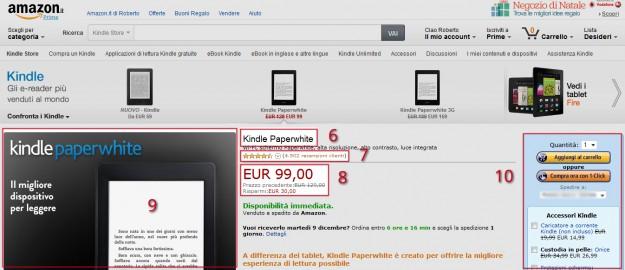 amazon pagina prodotti